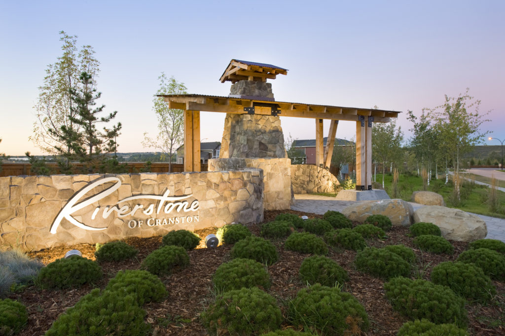 community image of cranston's riverstone calgary southeast new homes by trico homes opening event